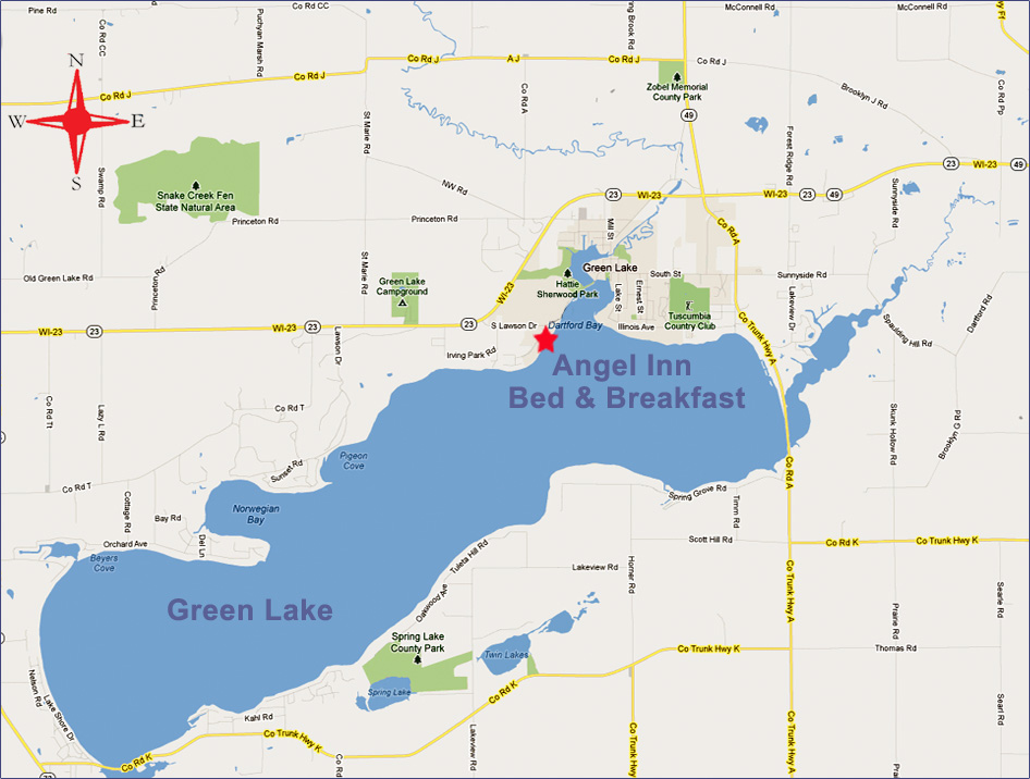 Green Lake Wisconsin Map